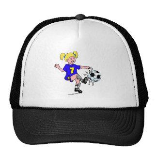 Little Girl Playing Soccer Mesh Hats
