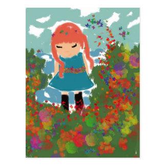 little girl postcards