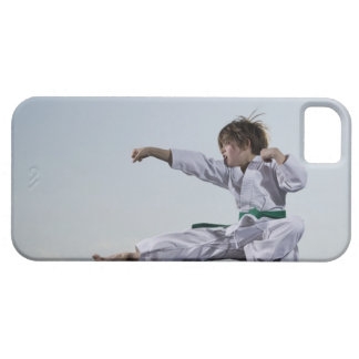 Little girl practicing karate barely there iPhone 5 case