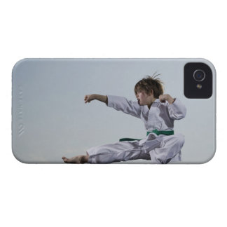 Little girl practicing karate iPhone 4 Case-Mate cases