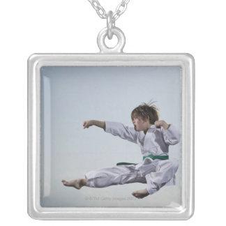 Little girl practicing karate custom jewelry