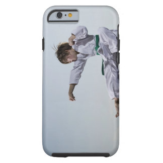Little girl practicing karate tough iPhone 6 case
