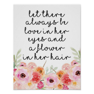 Little Girl Quote Wall Art