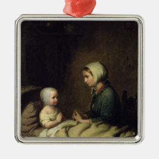 Little Girl Saying Her Prayers in Bed Christmas Ornament