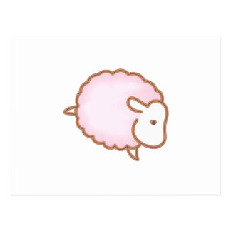 LITTLE GIRL SHEEP POSTCARD