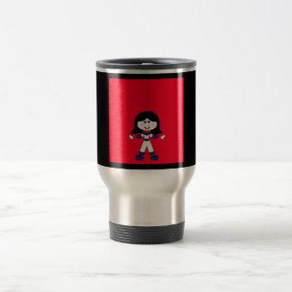 Little Girl Stick Family Travel Mug