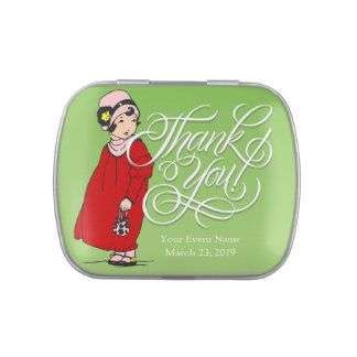 Little Girl Thank You Party Favor Candy Tins