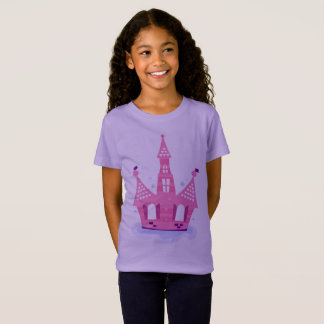 Little girl tshirt with PRINCESS CASTLE