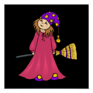 Little girl witch poster