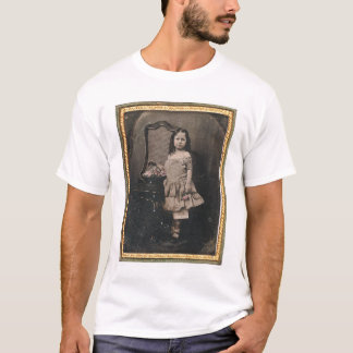 Little girl with a basket of flowers (40319) T-Shirt