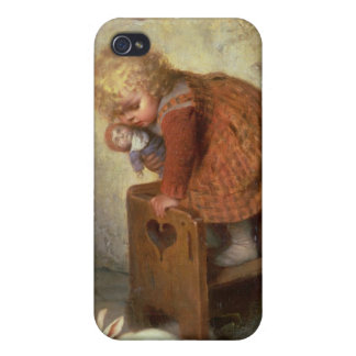 Little Girl with a Rabbit Case For iPhone 4