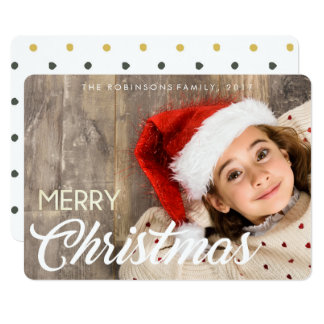Little girl with a smile & a hat Christmas Card