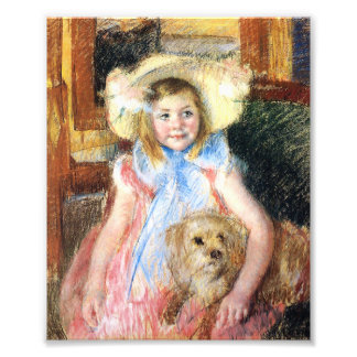 Little Girl with Dog Photo Print