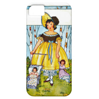 Little girl with dolls barely there iPhone 5 case