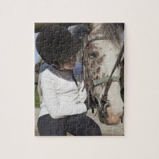 Little girl with her horse jigsaw puzzle
