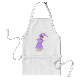 Little girl with umbrella apron