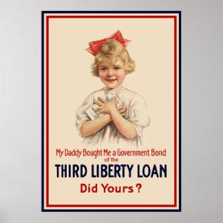 Little Girl WW1 Bond -- Border Poster