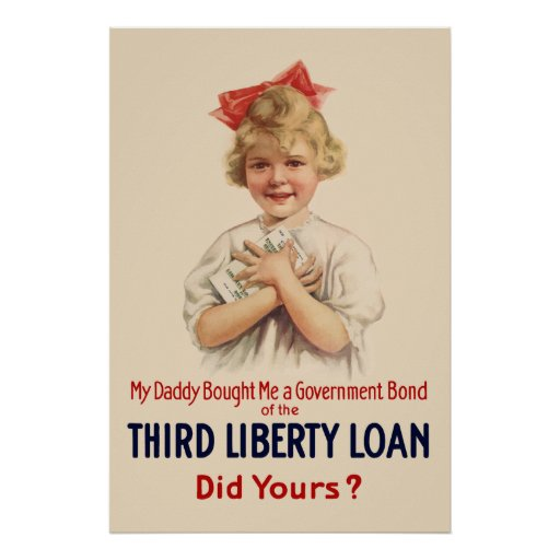 Little Girl WW1 Bond Poster