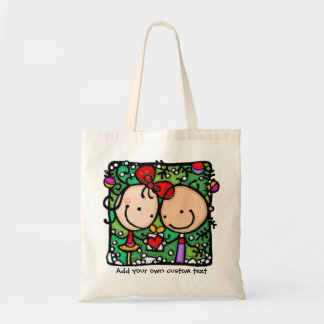 Little Girlie Christmas Love Personalize it! Budget Tote Bag