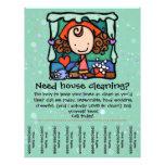 Little Girlie promotes housecleaning business GRN 21.5 Cm X 28 Cm Flyer