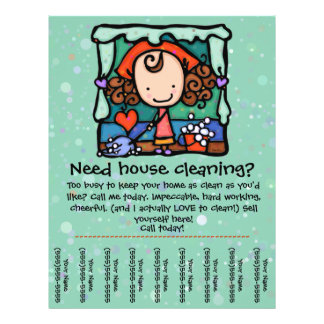 Little Girlie promotes housecleaning business GRN Flyer