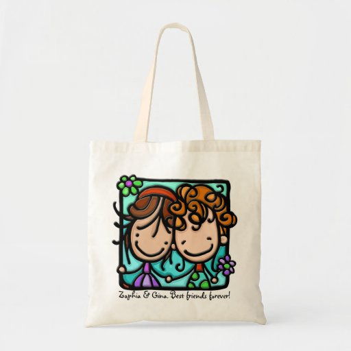 Little Girlies has a Best Friend Forever! Canvas Bags