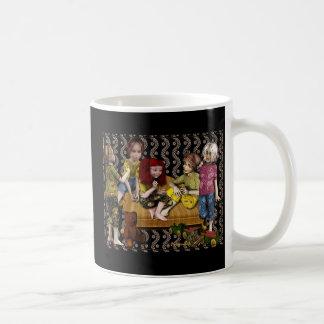 Little girls basic white mug