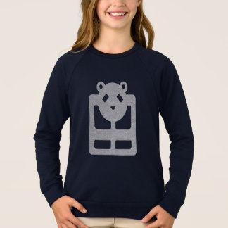 Little girl's cute bear black tshirt HQH