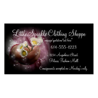 Little Girls Hand w Daisies Child Business Cards