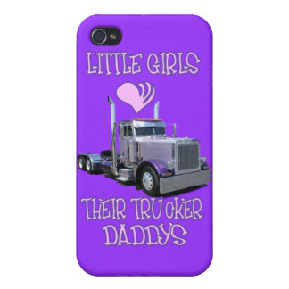 Little Girls Love Their Trucker Dads iPhone 4/4S Cover