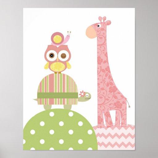 Little girls nursery art print