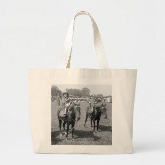 Little Girls on Horseback, early 1900s Jumbo Tote Bag