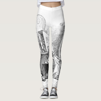 Little girls playing house etching leggings