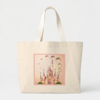 Little Girl's Princess Castle Birthday Invitations Jumbo Tote Bag