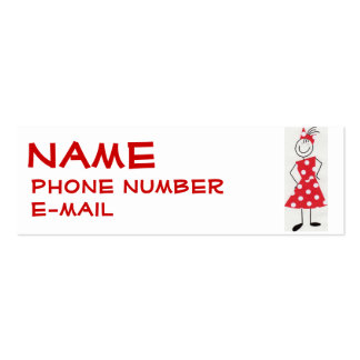 Little Girl's Profile Card Business Card Template