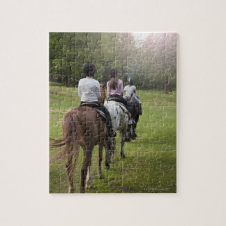 Little girls riding horses puzzles