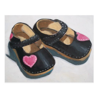 LITTLE GIRL'S SHOES WITH HEART POSTCARD