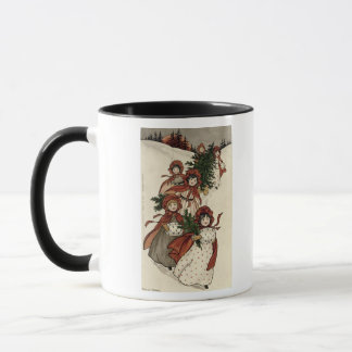 Little Girls with Holly and the Christmas Tree Mug