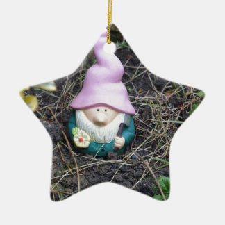 Little Gnome Ceramic Star Decoration