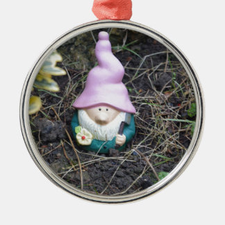 Little Gnome Silver-Colored Round Decoration