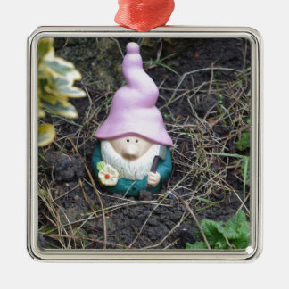 Little Gnome Silver-Colored Square Decoration