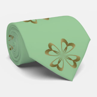 Little Gold Flowers on Mint Tie