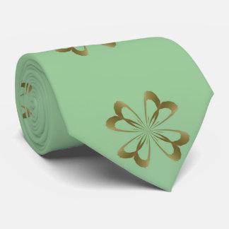 Little Gold Flowers on Mint Tie