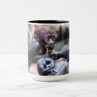 Little Gorilla Two-Tone Coffee Mug