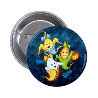 LITTLE GOSTS HALLOWEEN Button  2¼ Inch