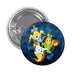 LITTLE GOSTS HALLOWEEN Button  Small, 1¼ Inch