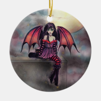Little Gothic Vampire Fairy Halloween Ornament