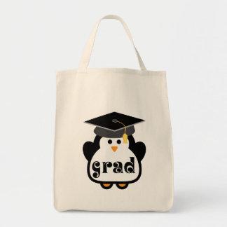 Little Grad Penguin Graduation Gift Grocery Tote Bag