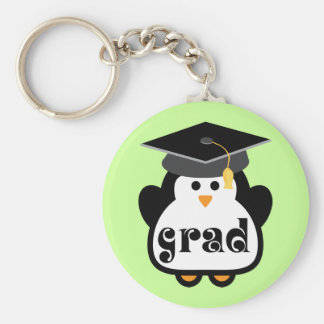 Little Grad Penguin Graduation Gift Key Ring