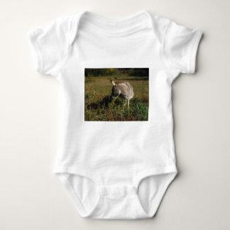 Little gray Donkey w / wildflowers Infant Creeper